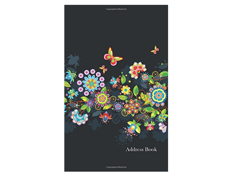Florescent Flower Address Book