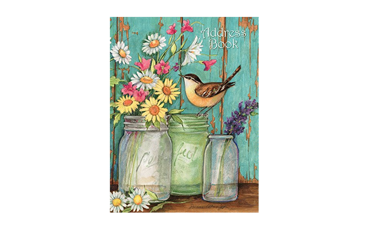 Flower Jar Address Book