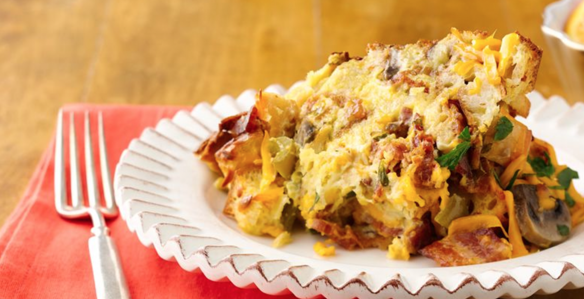 Bacon, Egg, & Cheddar Casserole