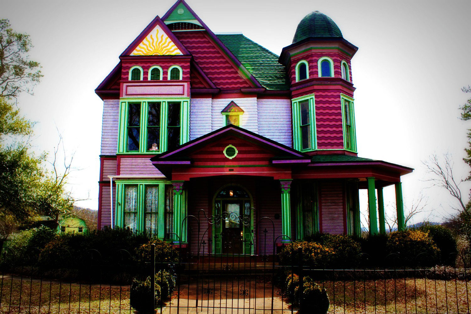 Colorful Sun House in Anniston Alabama