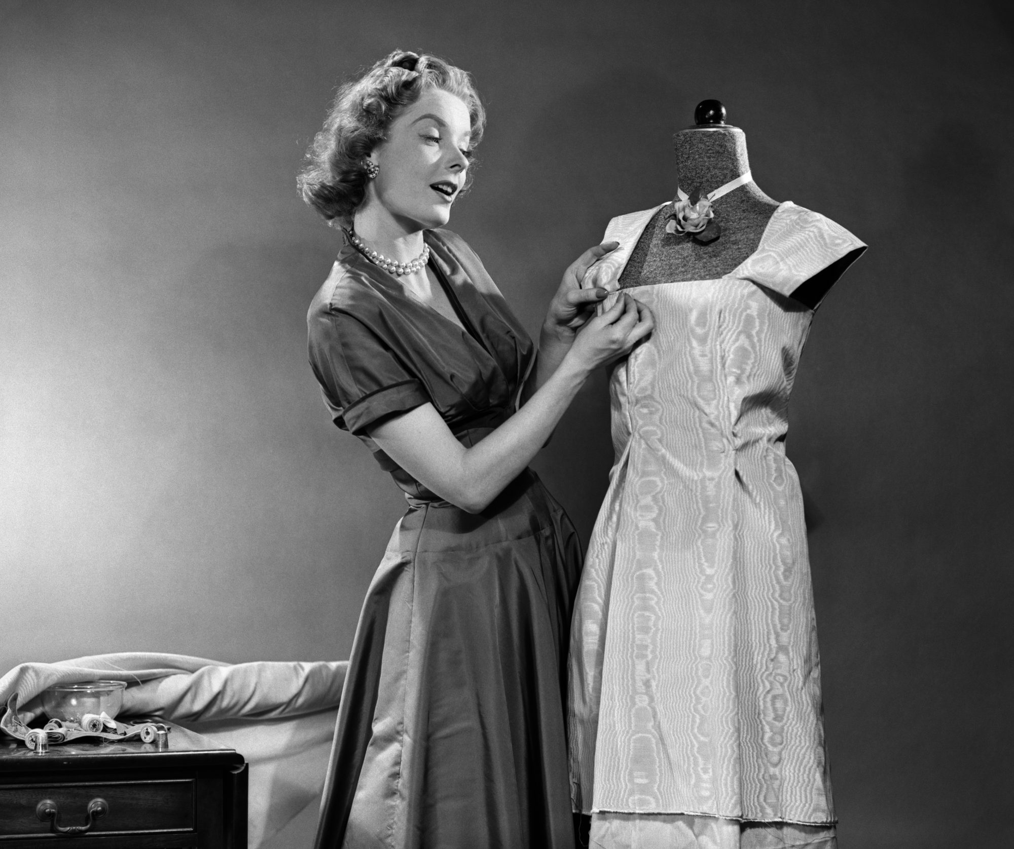 Woman Making Dress