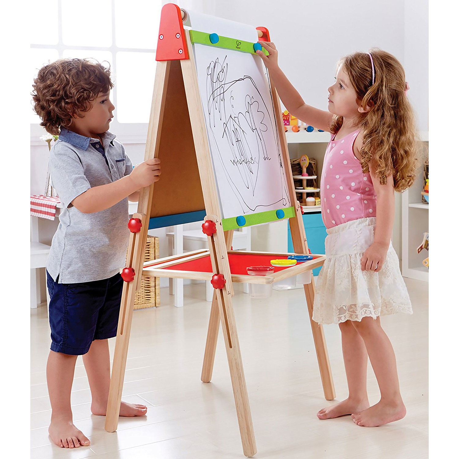 Hape All-In-One Art Easel with Paper Roll
