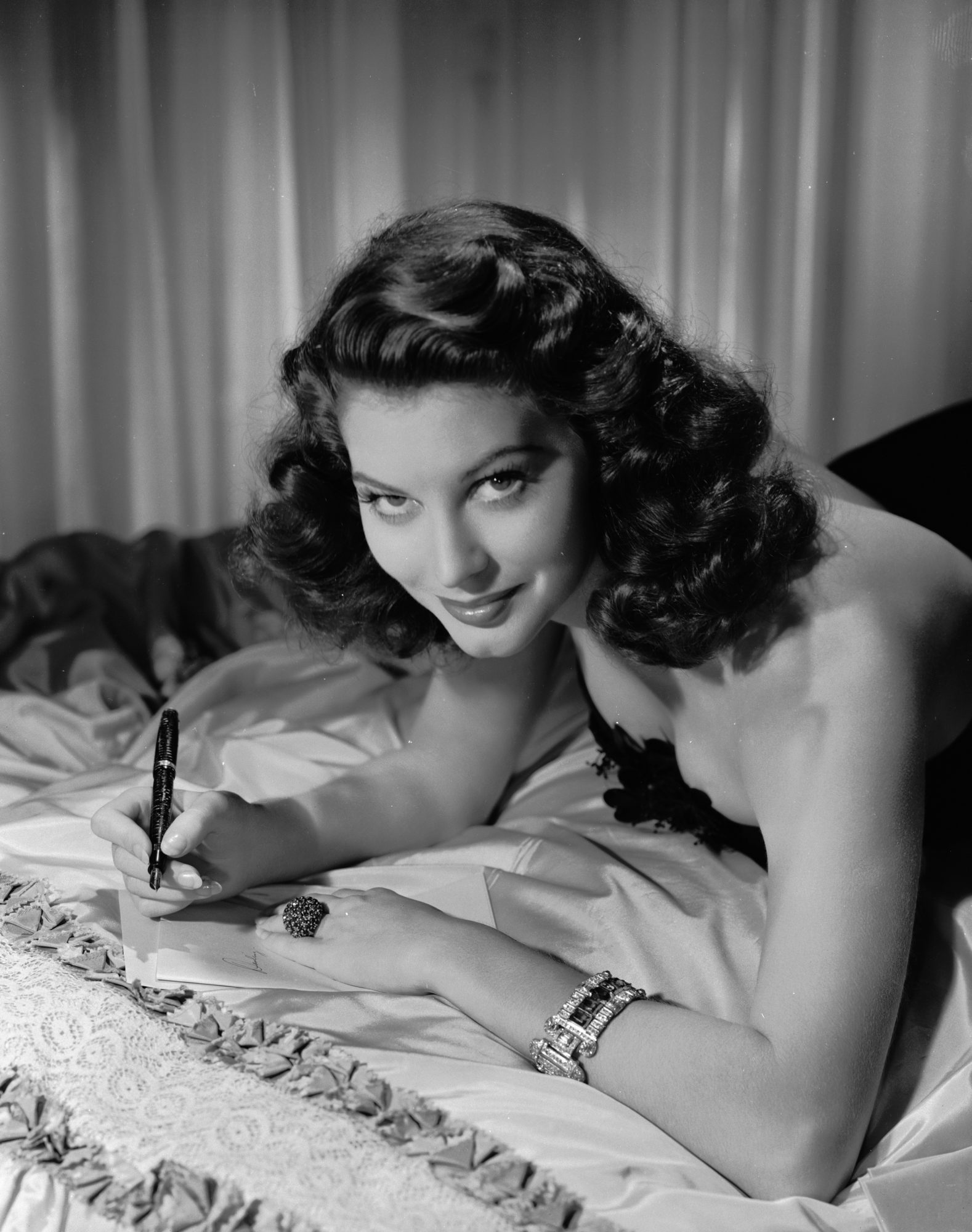 Ava Gardner Writing Letter