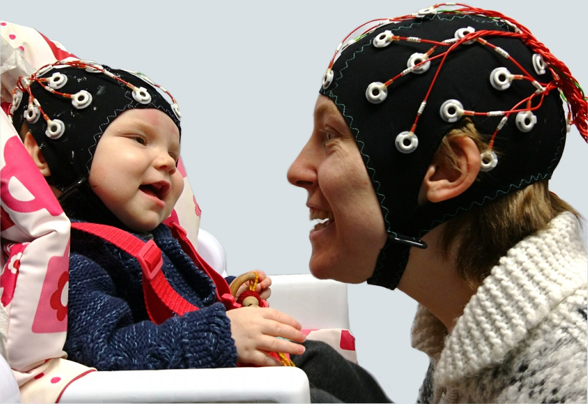 Making Eye Contact With a Baby Changes Both Your Brain Waves, Study Says