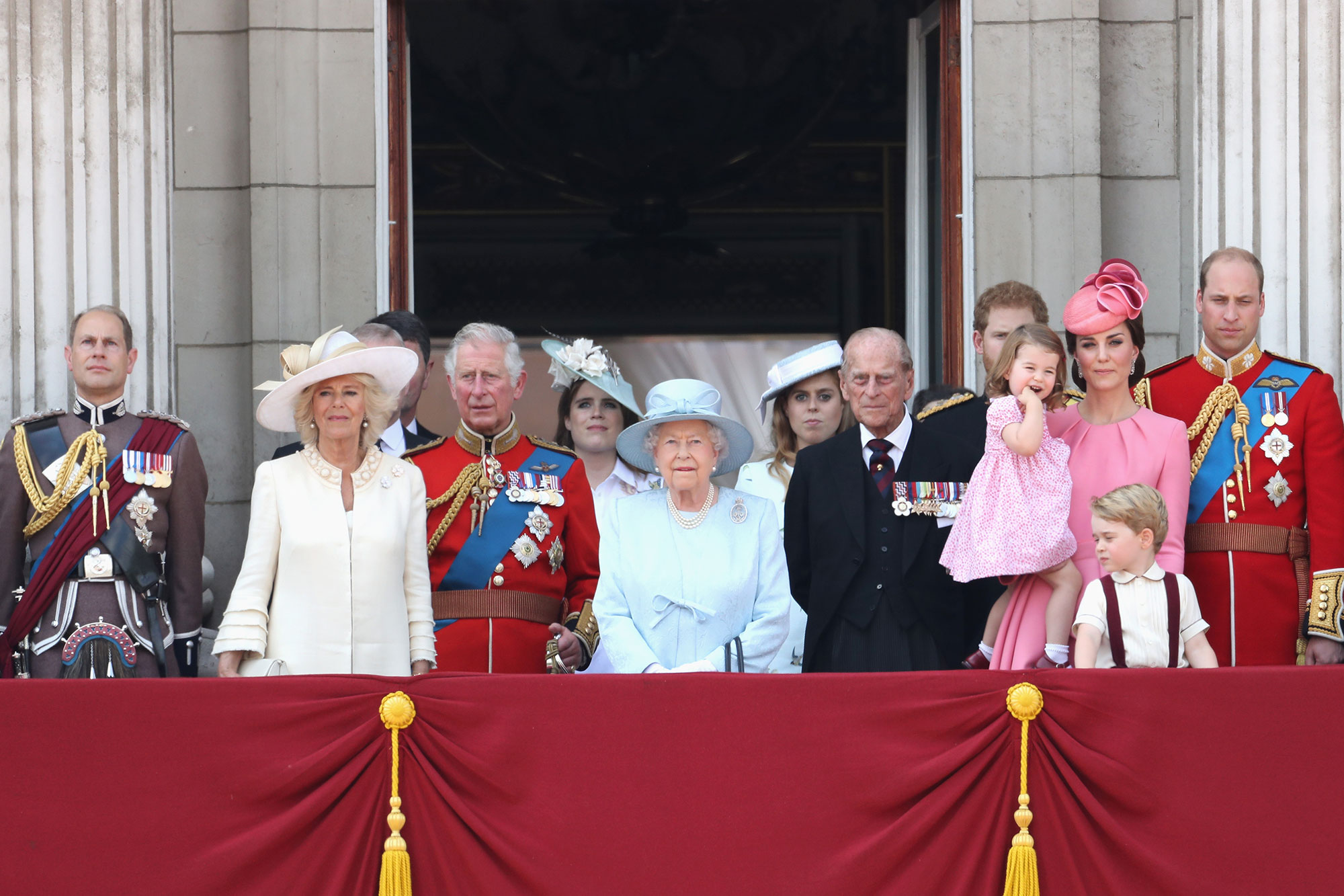 See Prince George and Princess Charlotte Steal the Show from the Whole Royal Family on the Palace Balcony!