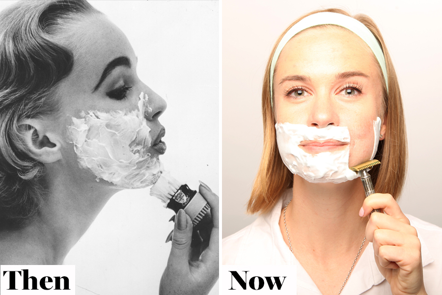 Then and Now Dermablading
