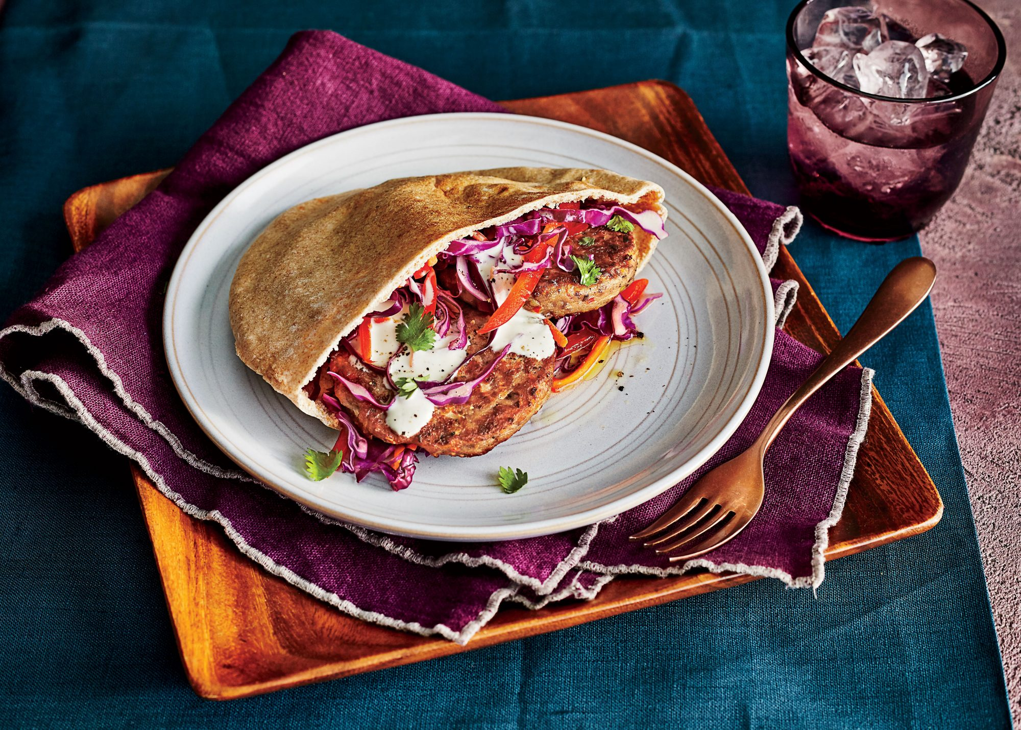 Black-Eyed Pea Fritter Sandwiches with Slaw Recipe