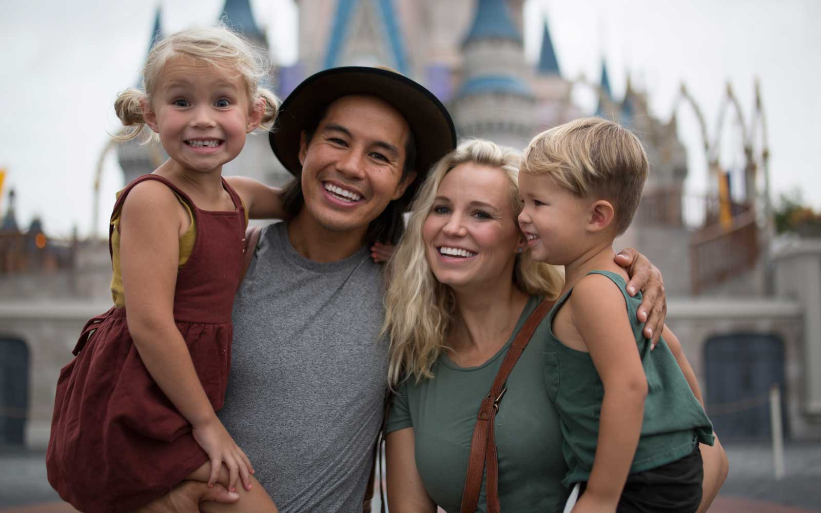 Family at Cinderella's Castle