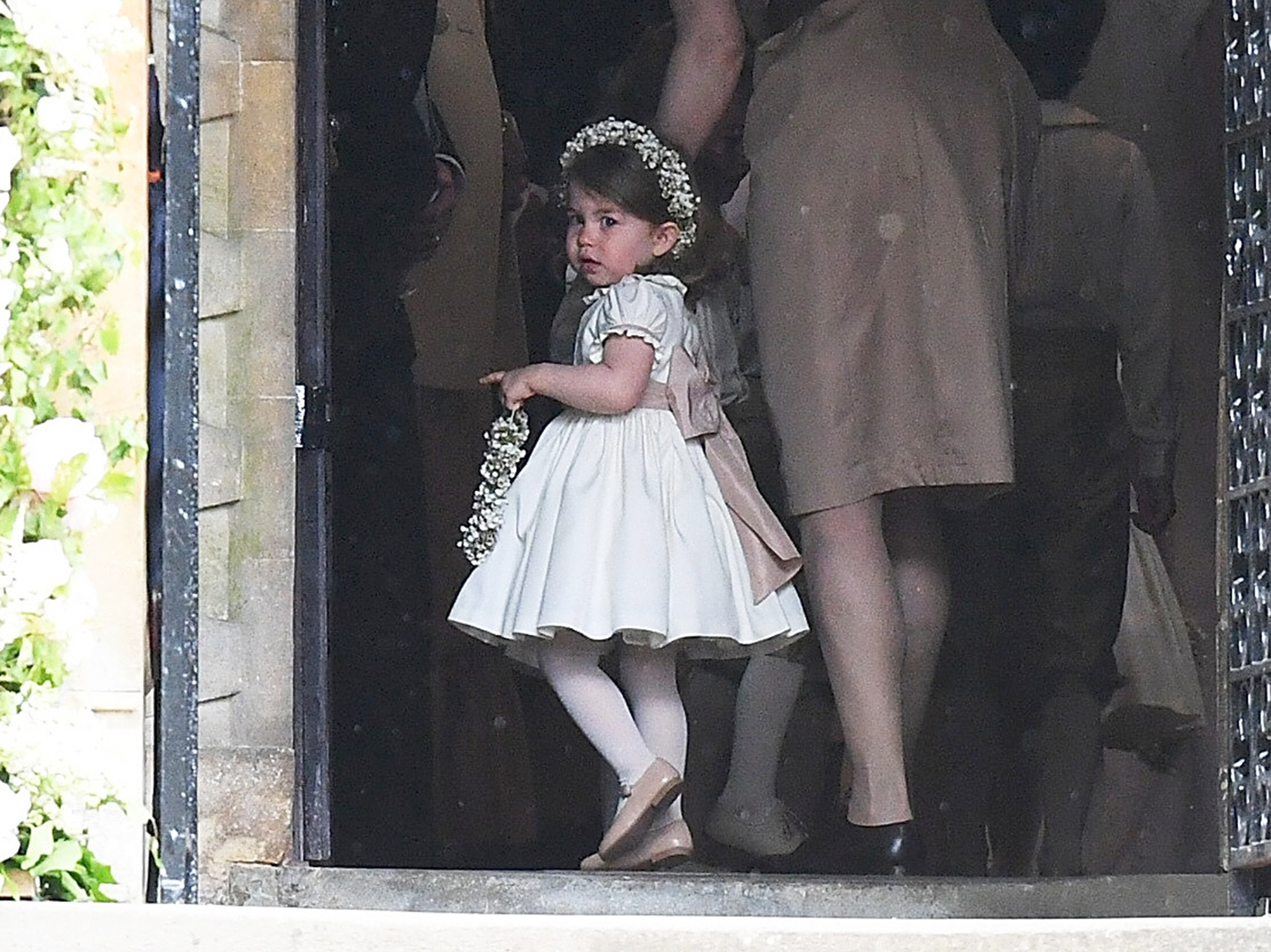 Princess Charlotte enters the church