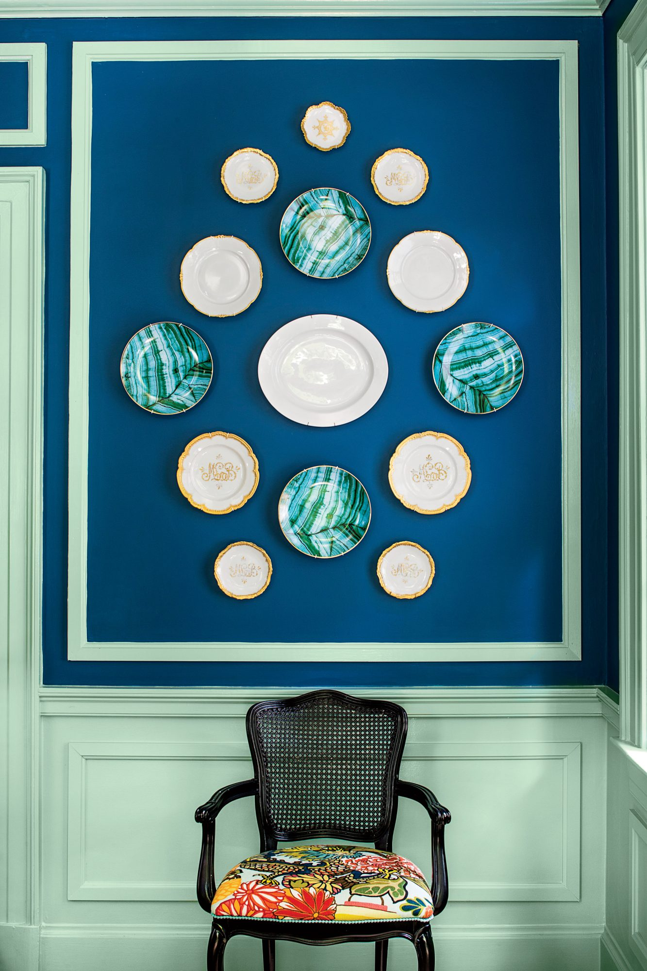 Why southerners decorate by hanging plates on the wall southern china plates wall amipublicfo Gallery