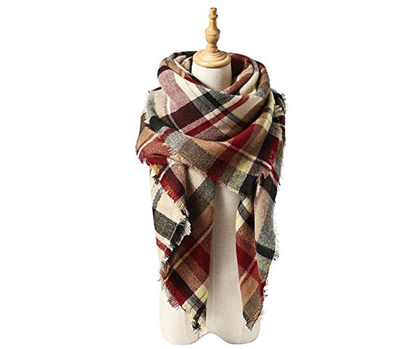 Plaid Chunky Scarf Amazon Prime Gift