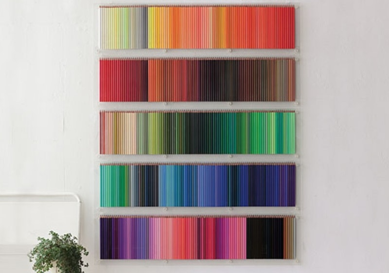 Colored Pencil Wall Display