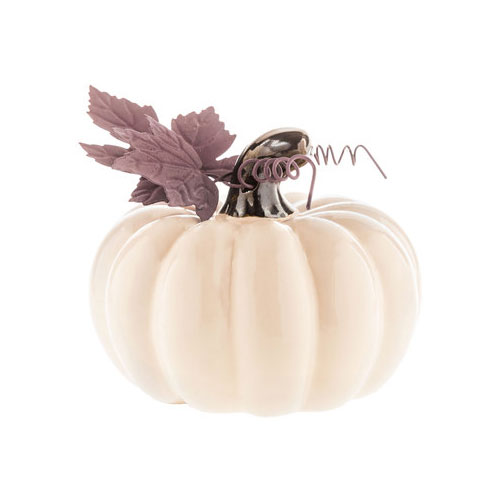 Cream Ceramic Pumpkin