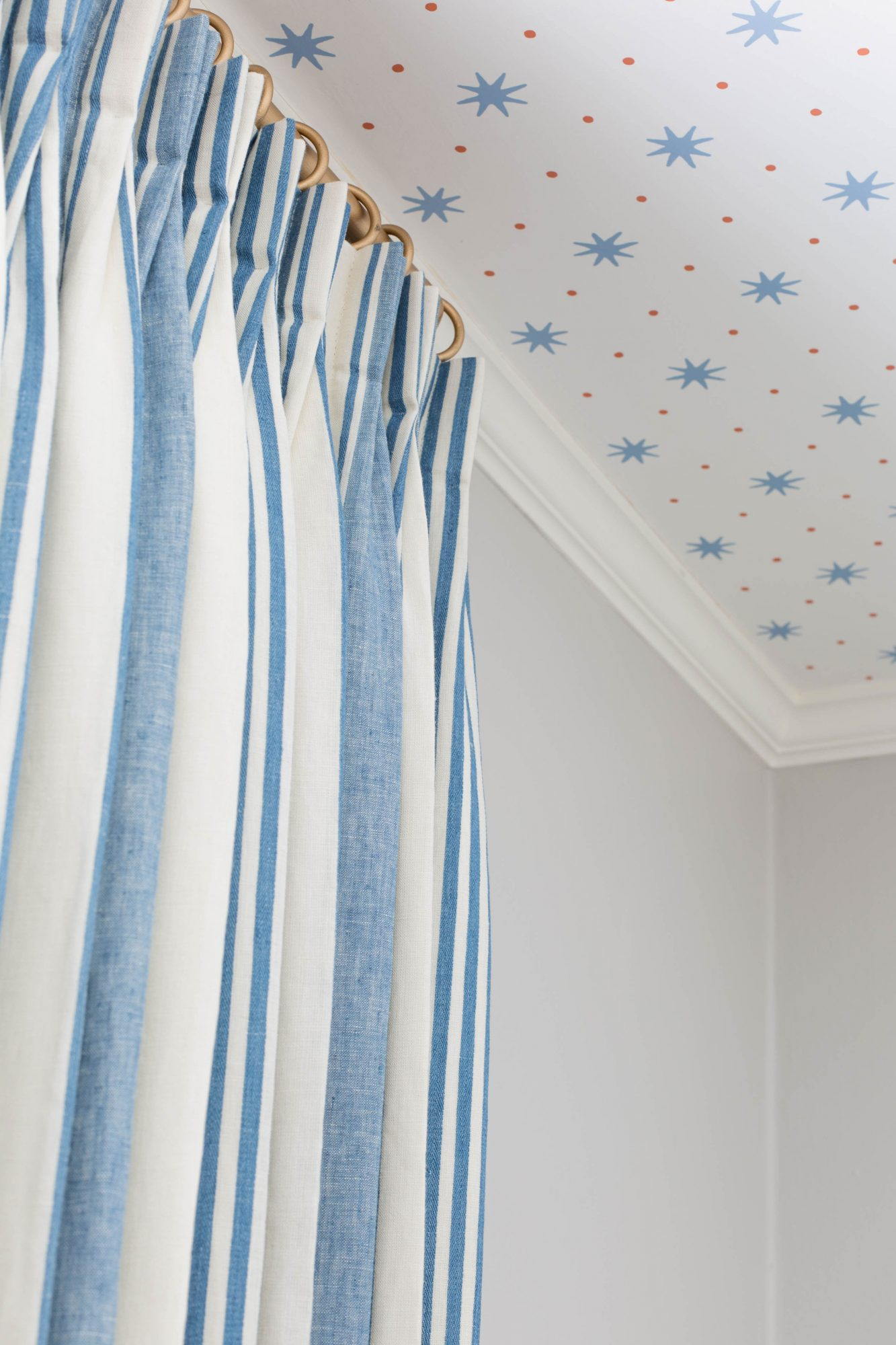 Baby Room Striped Curtains