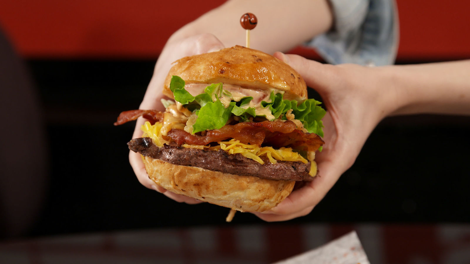 Disney World ESPN Club Smokehouse Burger