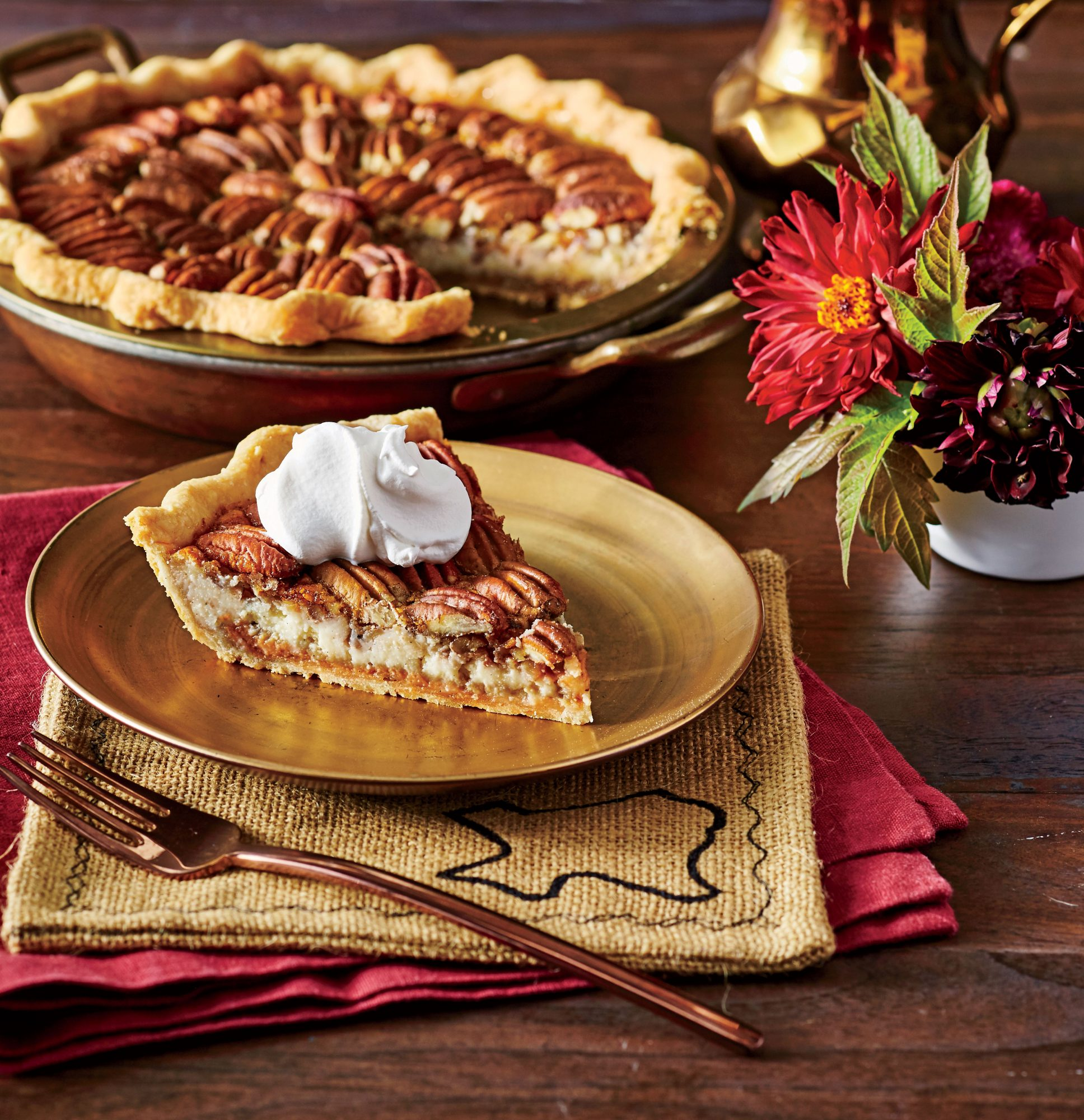 Double-Decker Pecan Cheesecake Pie Recipe Image