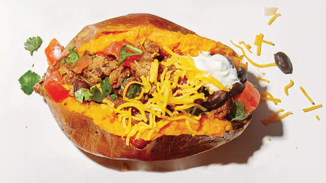 4 Ways to Upgrade Your Stuffed Sweet Potato e57793bd3fc1a213b5b8e193e36e570f