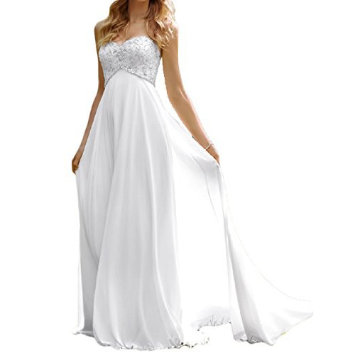 Sweetheart Beach Wedding Dress