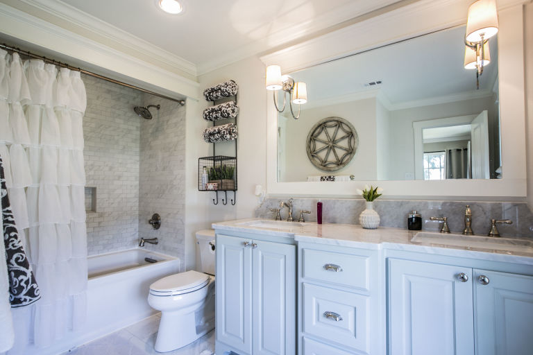 Bathroom with Shower Fixer Upper Home