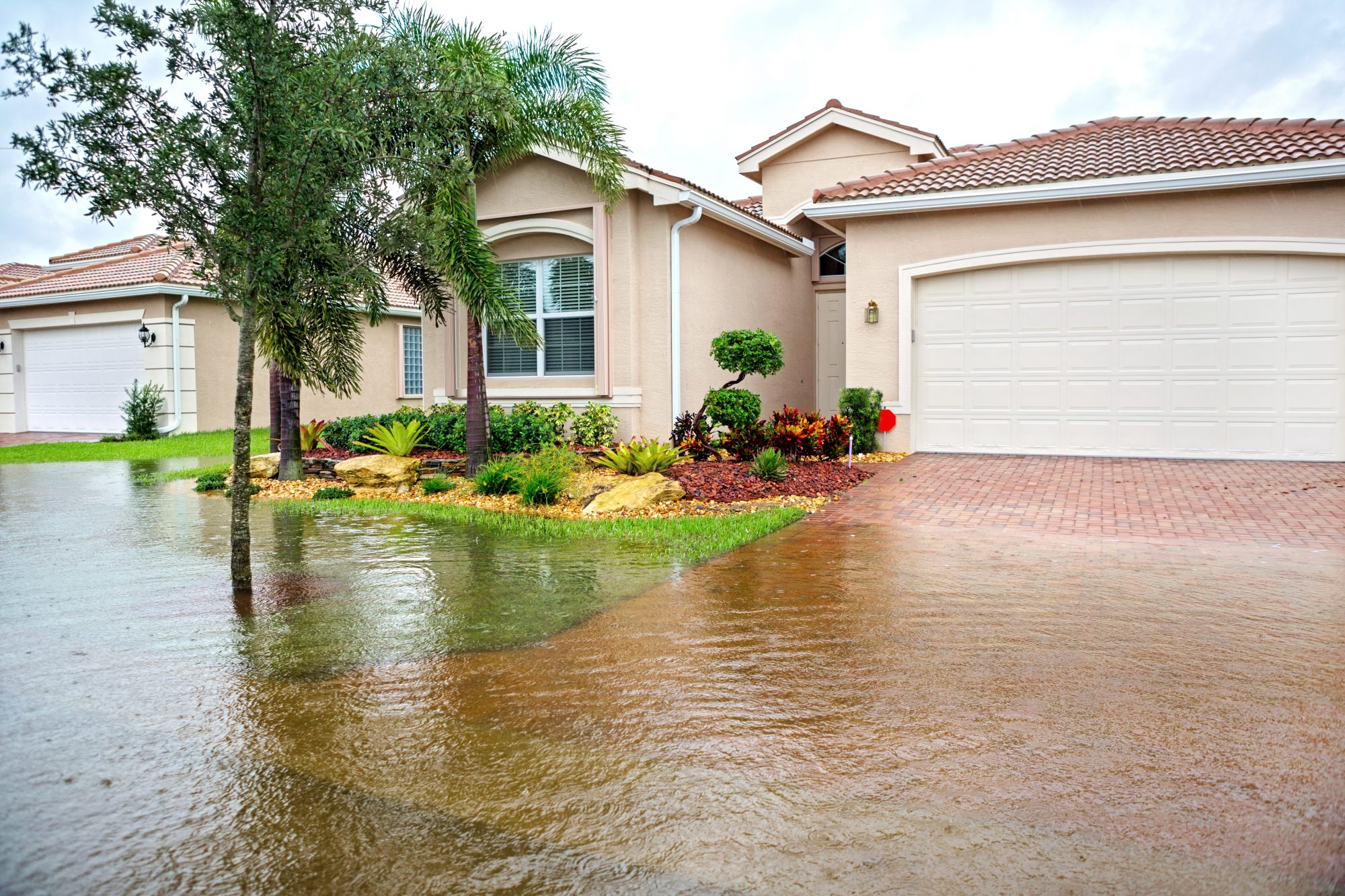 Front Yard Flooded After Hurricane