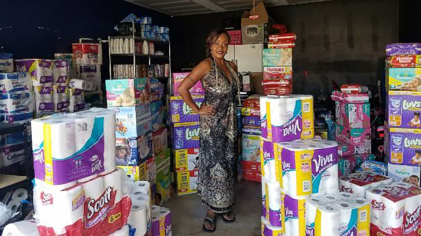 Kimberly Gager in San Antonio, Texas Garage with Supplies