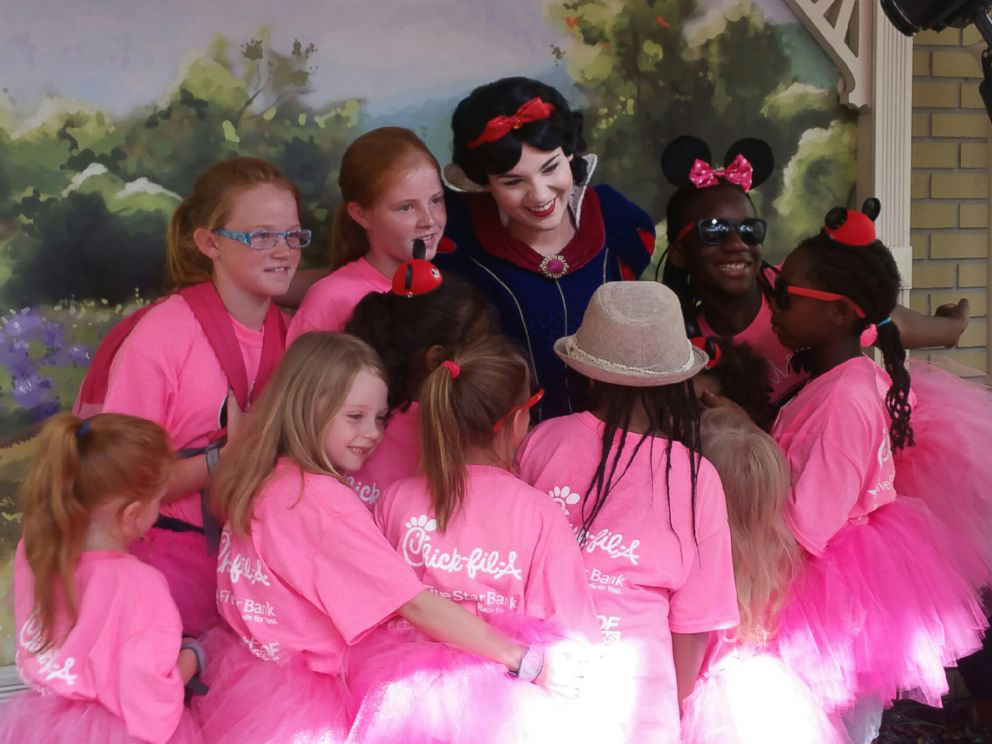 Group of Foster Girls at Princess Party