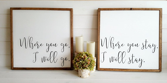 Hand Painted Wooden Signs