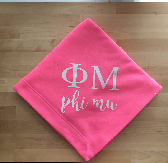 Personalized Sorority Blanket