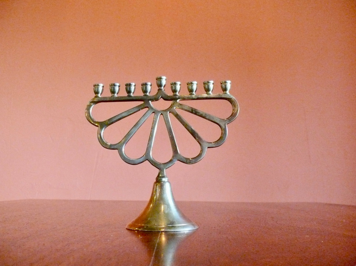 Arched Brass Menorah