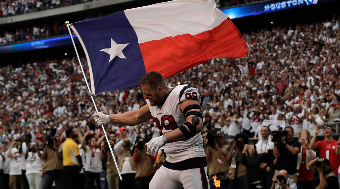 Watch: J.J. Watt Takes The Field In Texans' First Game In Houston Since Hurricane Harvey