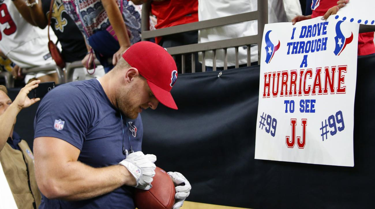 J.J. Watt Has Raised More Than $17 Million for Hurricane Harvey Relief