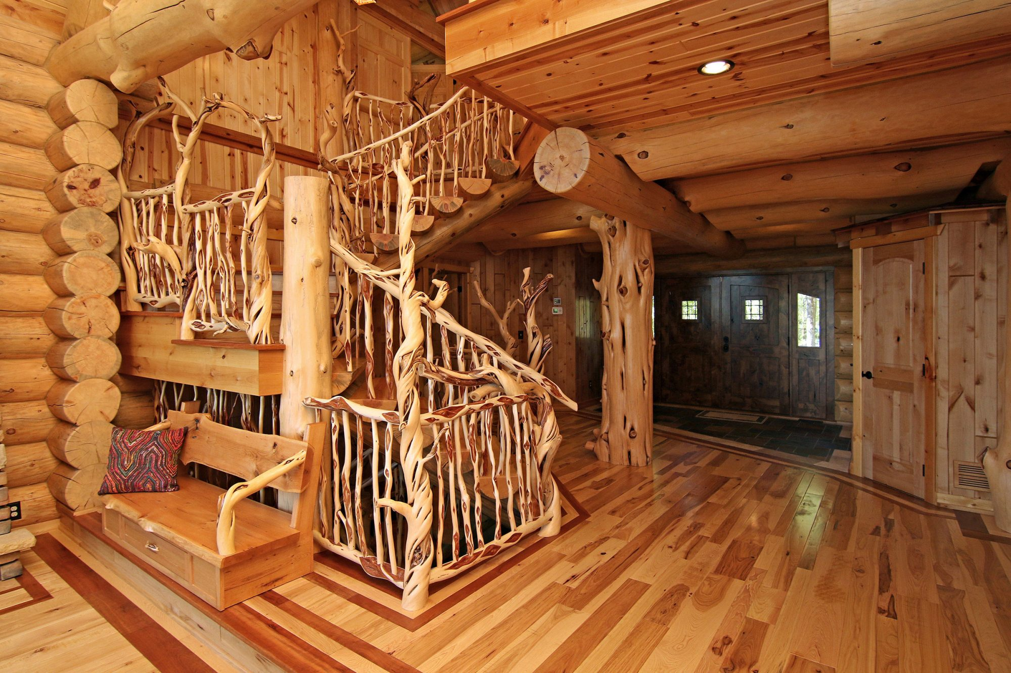 Incredible Log Cabin Entry