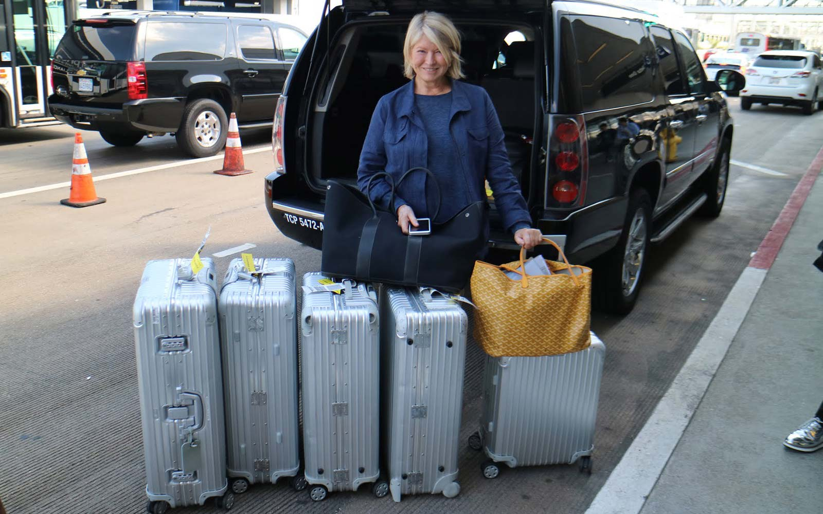 Martha Stewart Travel Airport rimowa luggage