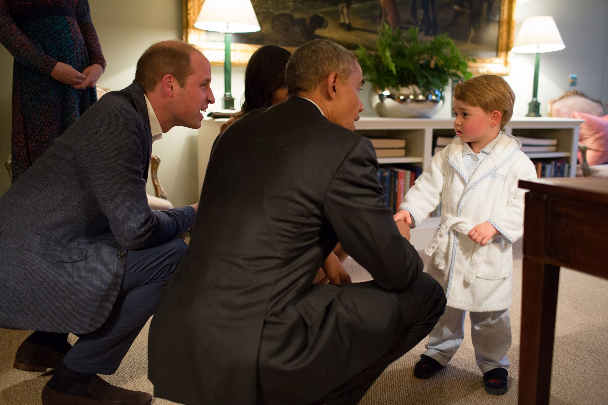 Our Prince Charming! 15 Adorable Photos of George Meeting President Barack Obama