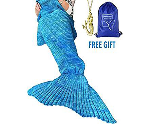 Crochet Mermaid Tail Blanket Amazon Prime Gift