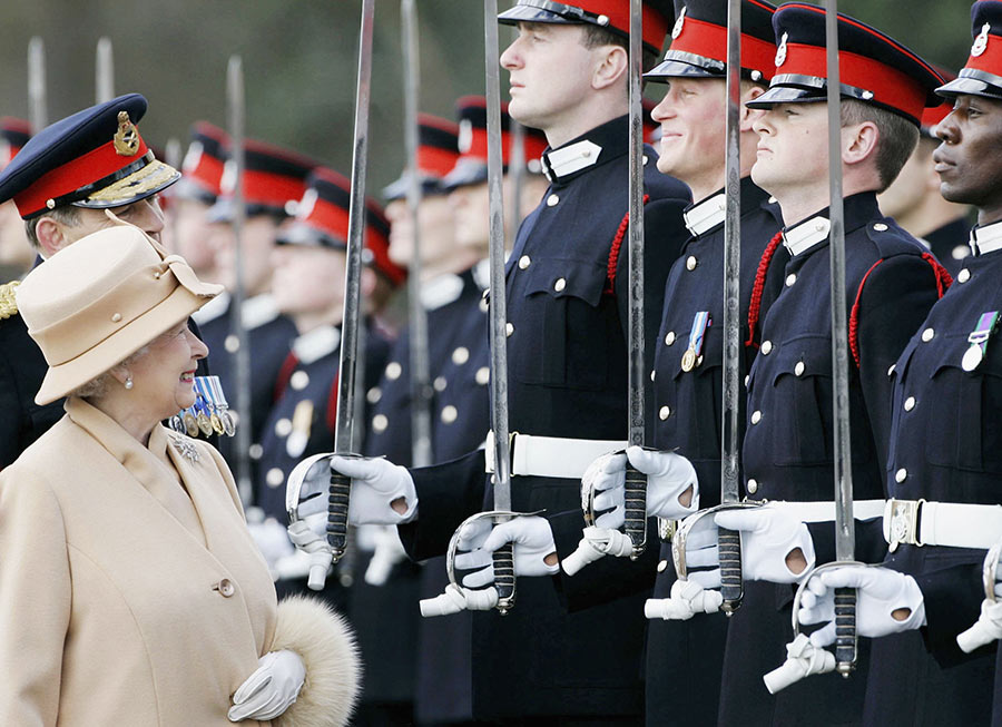 Prince Harry Laughing During Inspection