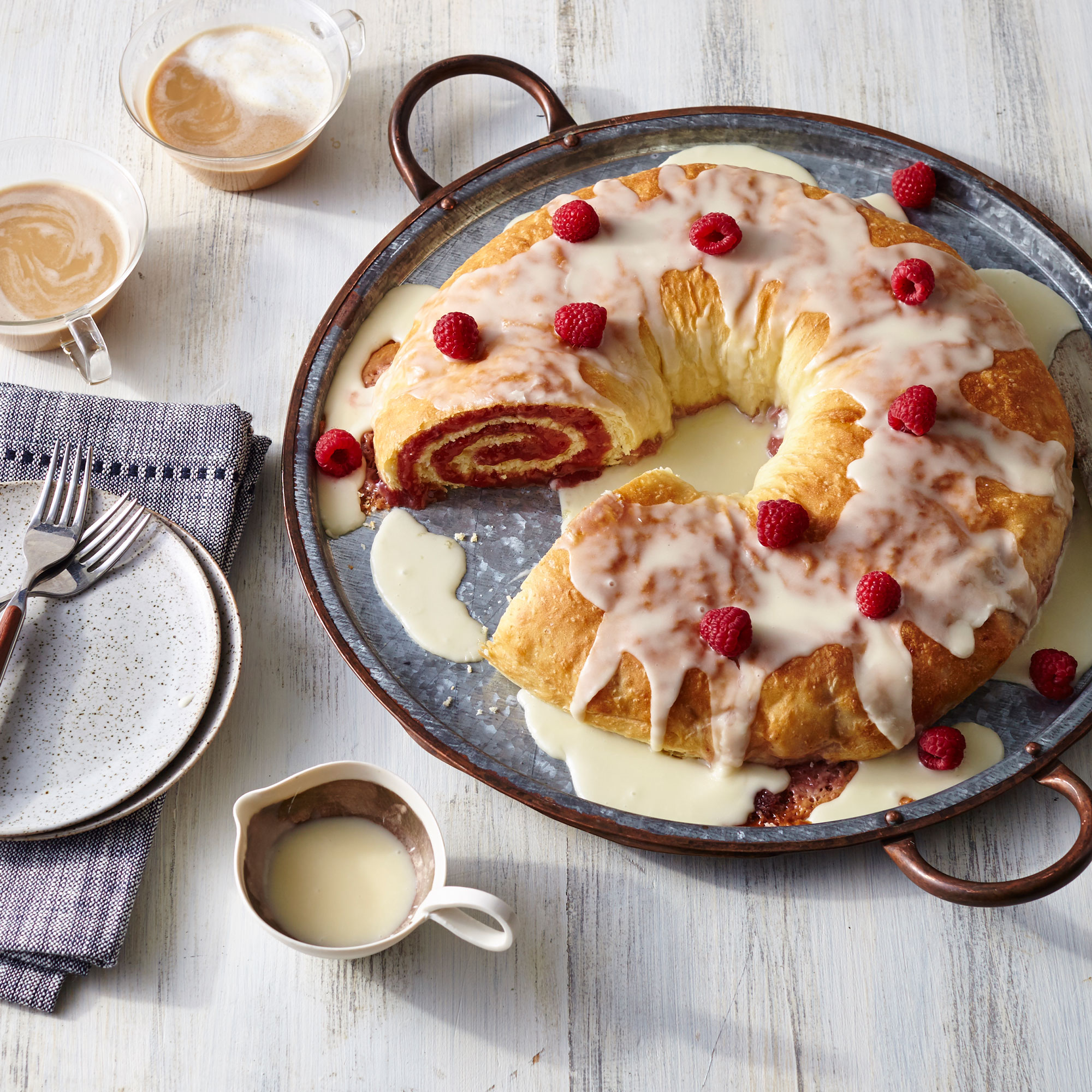 Raspberry and Cream Cheese Danish Roll image