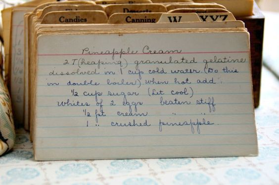 Hand-Written Recipes