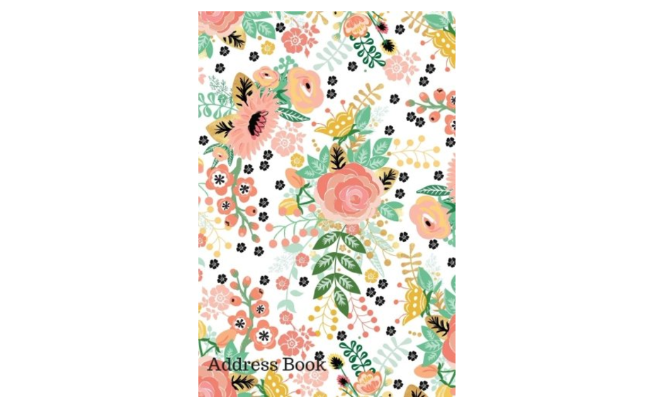 Pink Floral Design Address Book