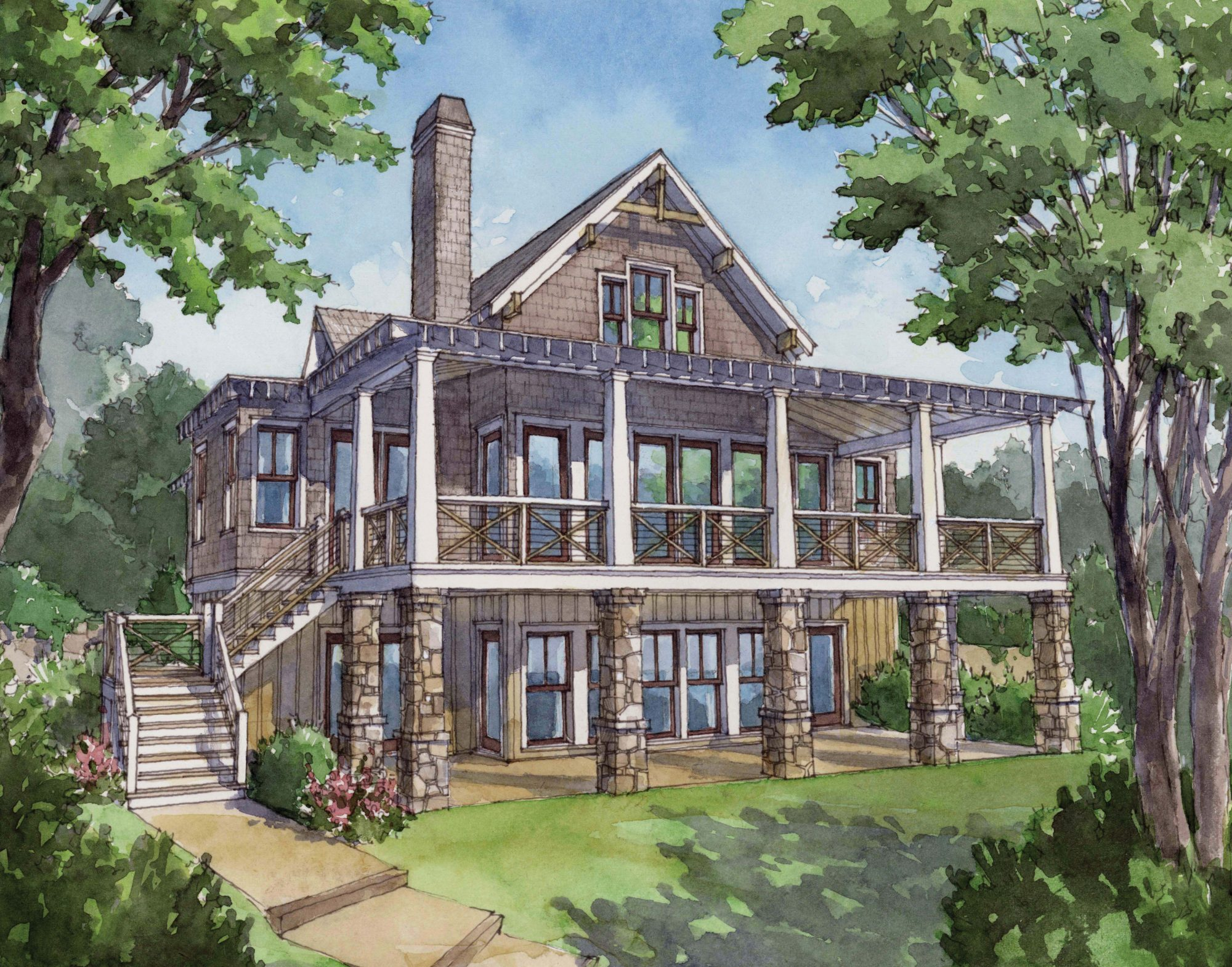 Southern living house plan 1757 southern living for One story lake house plans