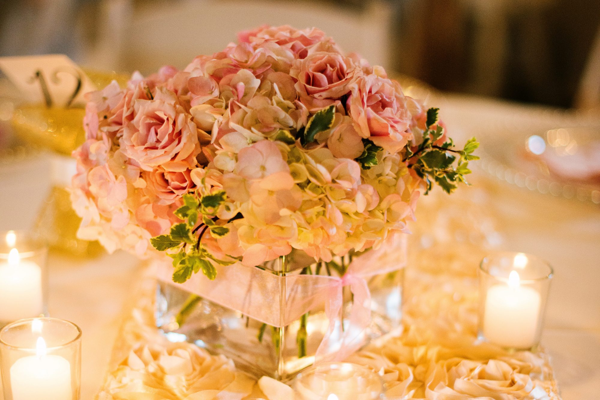 Barn Reception Centerpiece Decor