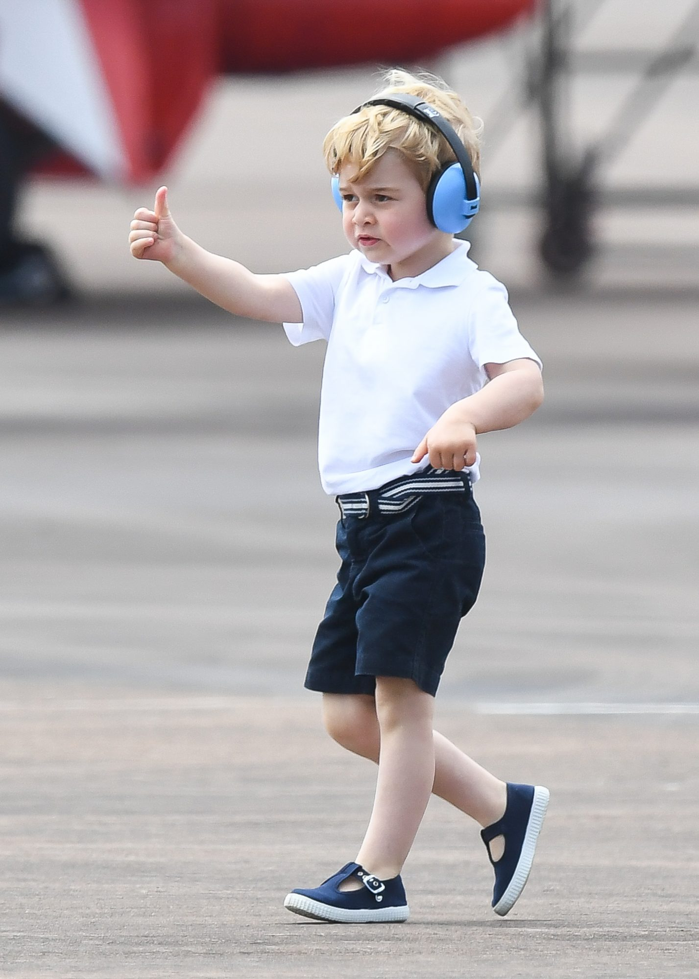 Our Prince Charming! 15 Adorable Photos of George Thumbs Up