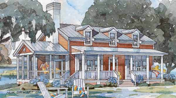 Tidewater Cottage, Plan #1420