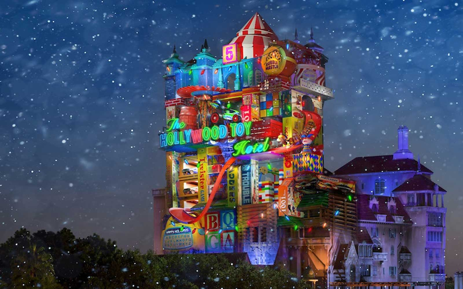 Disney Just Gave Us a Sneak Peek at the Tower of Terror's Huge Christmas Makeover