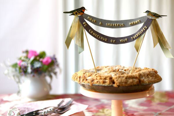 Vintage Alphabet Pie Topper & Place Cards