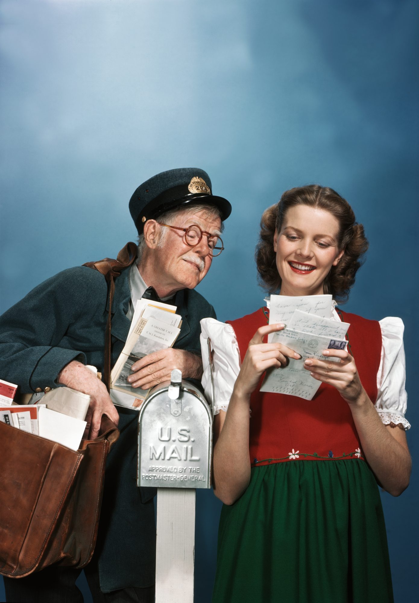 Woman and Mailman