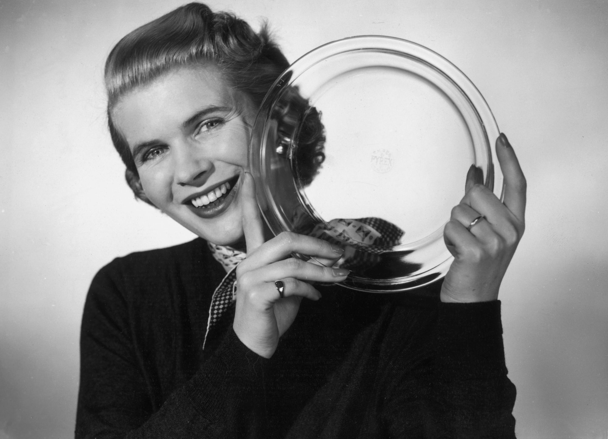 Woman Holding Pyrex Dish