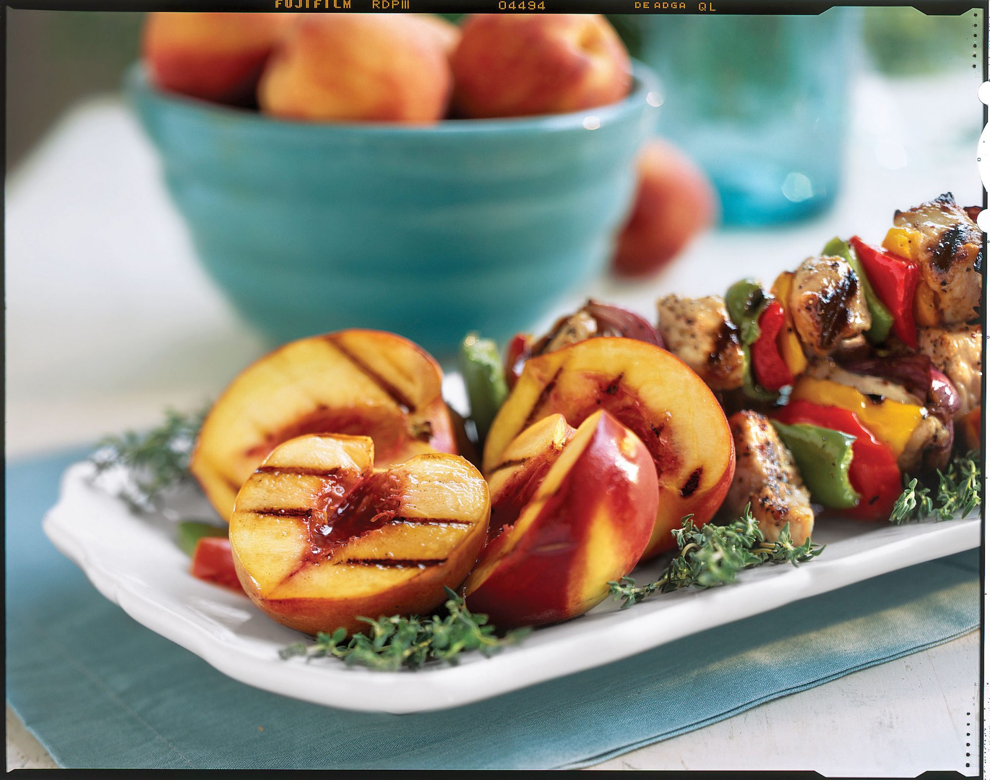 Vegetarian Grilling Recipes: Grilled Peaches Jezebel