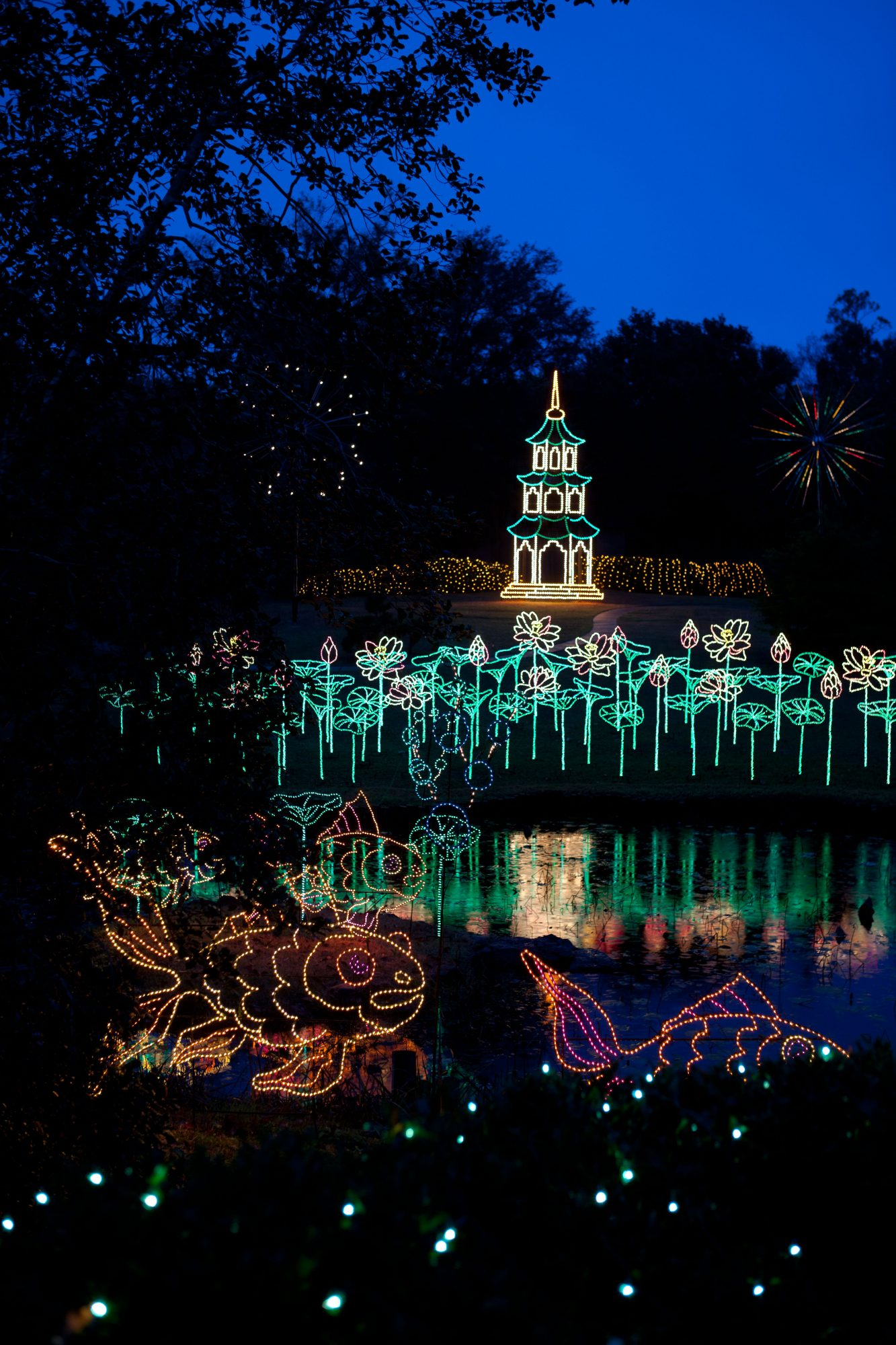Christmas Lights At Callaway Gardens