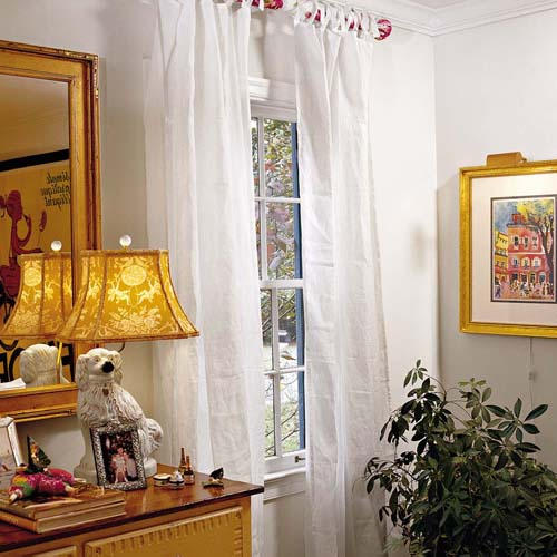 Custom look for less southern living for Window treatments for less